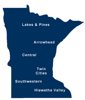 Map of Minnesota and Chapter Locations